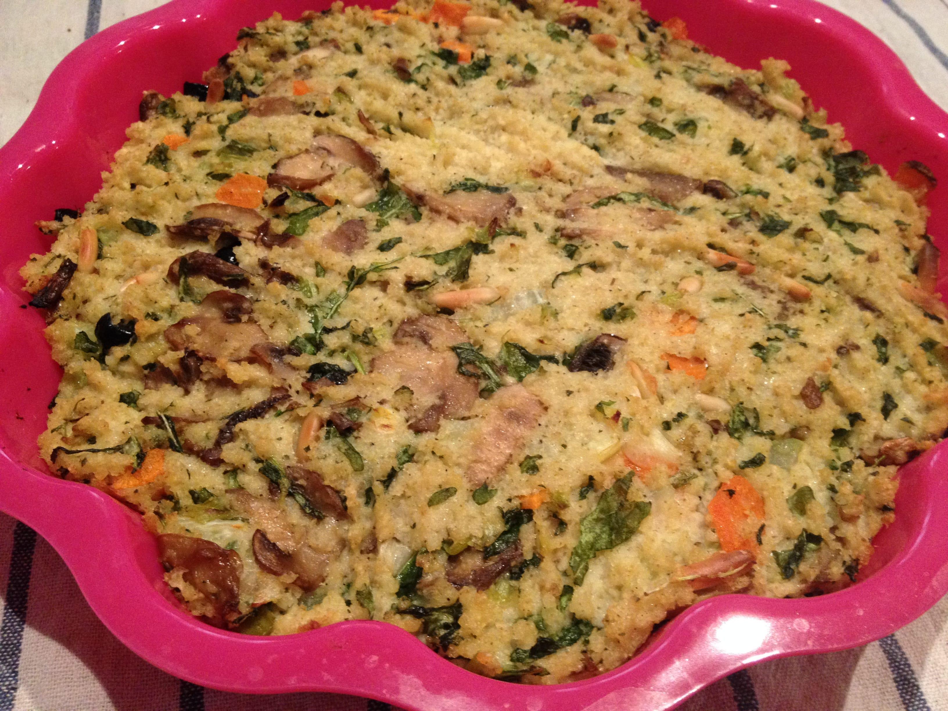 Ricette miglio tortino profumato con verdure e funghi for Ricette con verdure