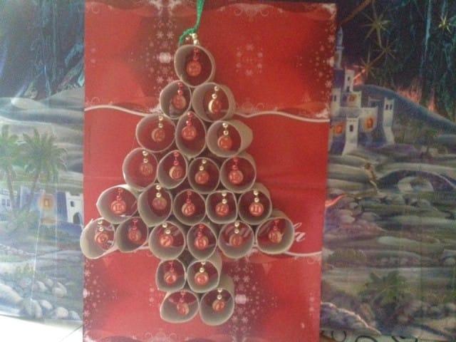 Calendario avvento con rotoli carta igienica foto non for Calendario avvento fai da te