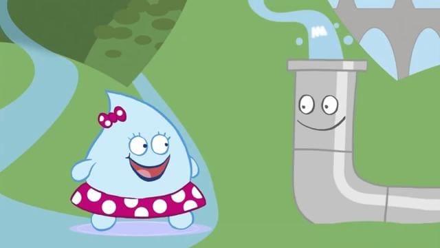 Cartone animato sull acqua lina goccina va a passeggio