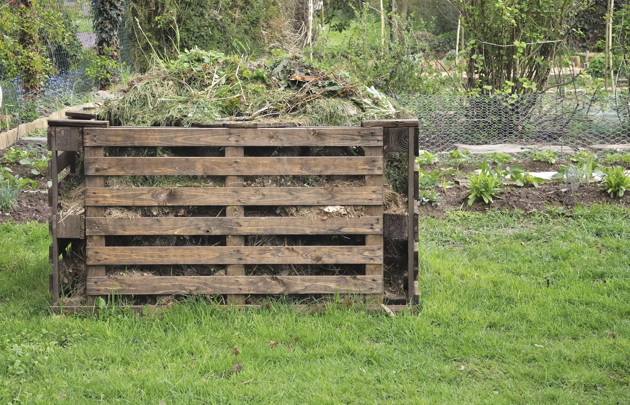 Come costruire una compostiera da giardino anche con i for Pallet immagini