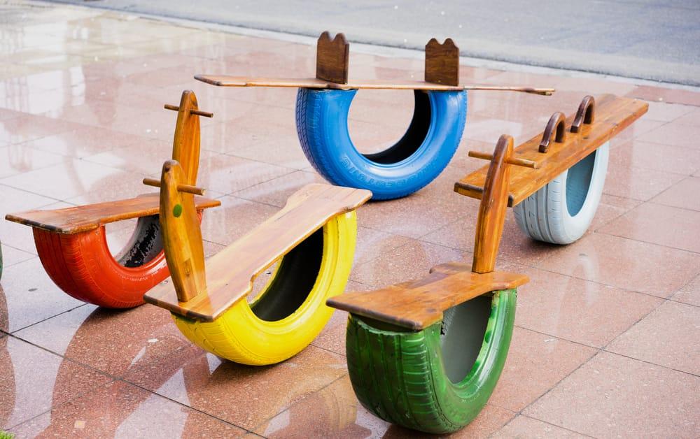 Riciclo creativo pneumatici 10 non sprecare for Come risparmiare denaro per costruire una casa