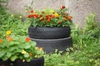 Come arredare la casa o il giardino con il riciclo creativo dei vecchi pneumatici