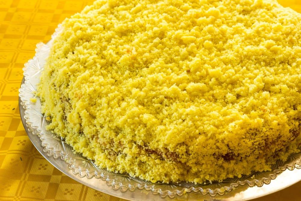 Ricetta torta mimosa vegan