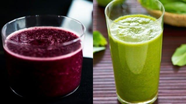 Ricette centrifugati invernali: con le verdure verdi e con la barbabietola rossa