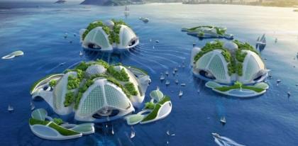 Aequorea: in Brasile gli edifici marini con le alghe e con la plastica riciclata