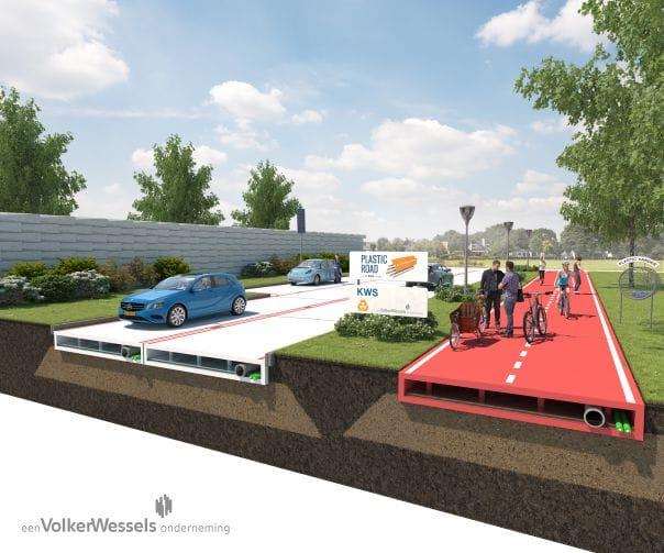 A Rotterdam la prima strada tutta con materiali a base di plastica riciclata