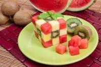 Cubo di frutta, la ricetta per un gran finale. E per avvicinare i bambini a tutta la frutta