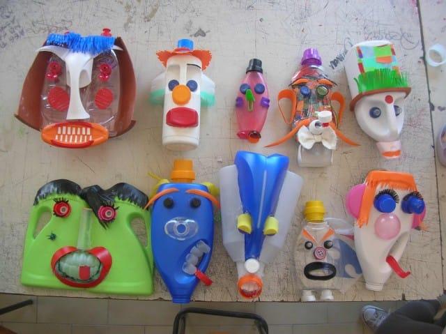 Maschere con materiali di recupero allievi liceo artistico for Materiale irrigazione