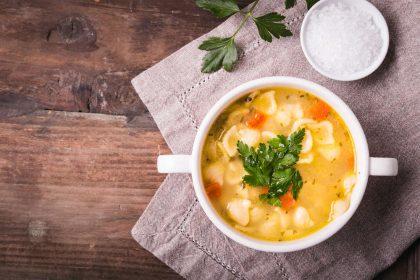 ricetta zuppa di pollo