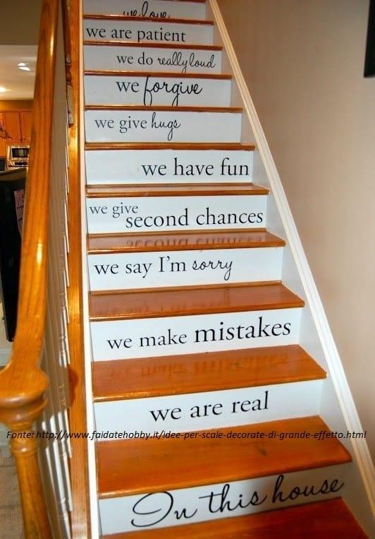 Come decorare le scale non sprecare - Come decorare una casa ...
