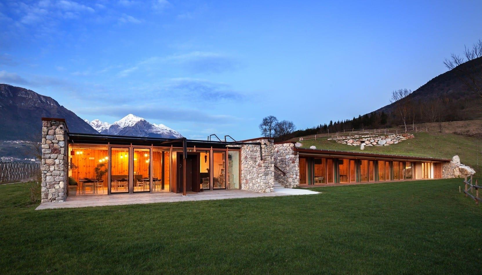 Agriturismo in legno non sprecare for Piccoli progetti di casa contemporanea