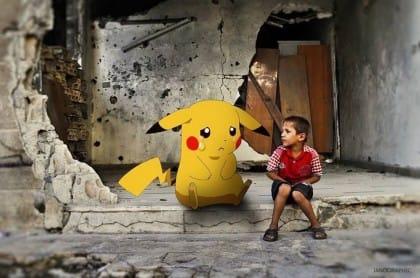 Guerra in Siria, i bambini diventano pokemon per chiedere al mondo di essere tratti in salvo