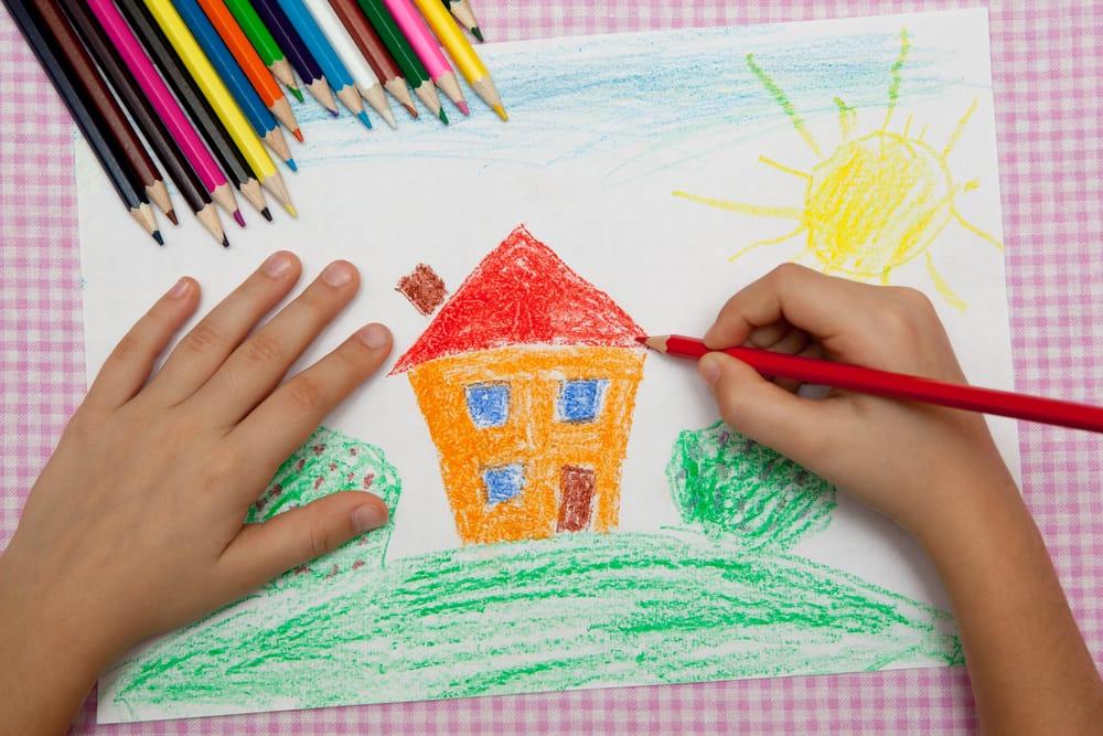 Come capire i disegni dei bambini non sprecare for Disegni di blocchi di cemento casa