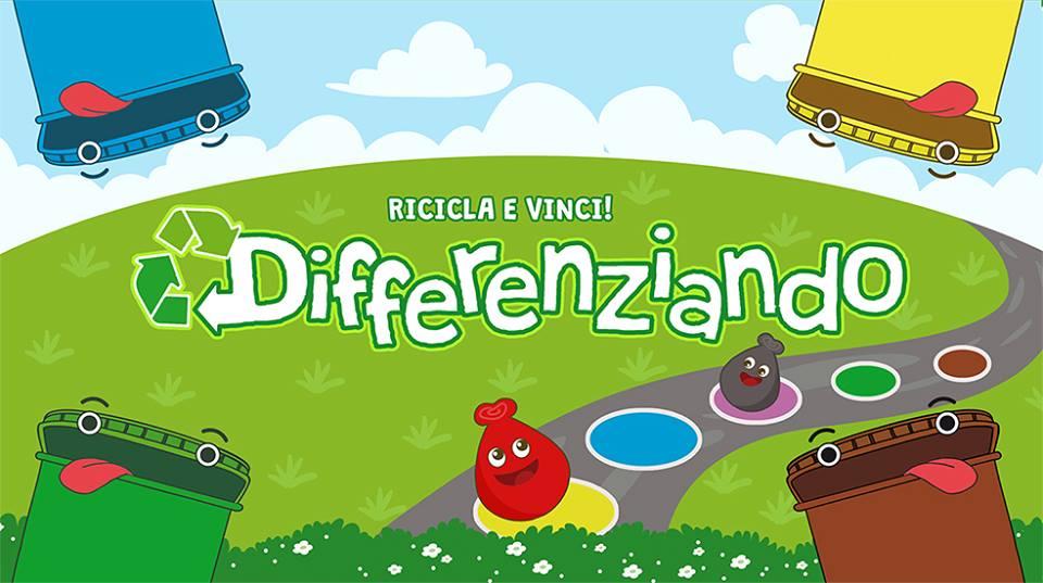 gioco per bambini sulla raccolta differenziata