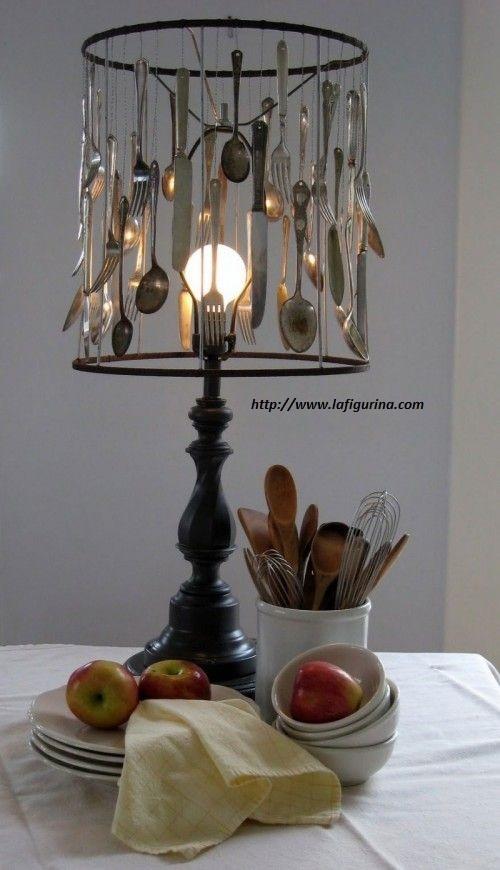 lampada da tavolo fai da te - non sprecare - Lampade Riciclo Creativo