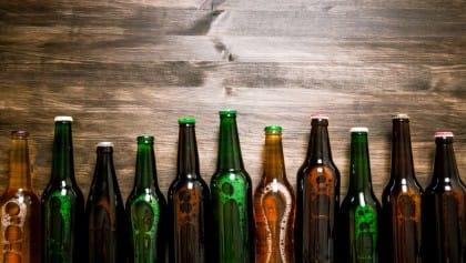 riciclo creativo bottiglie di birra