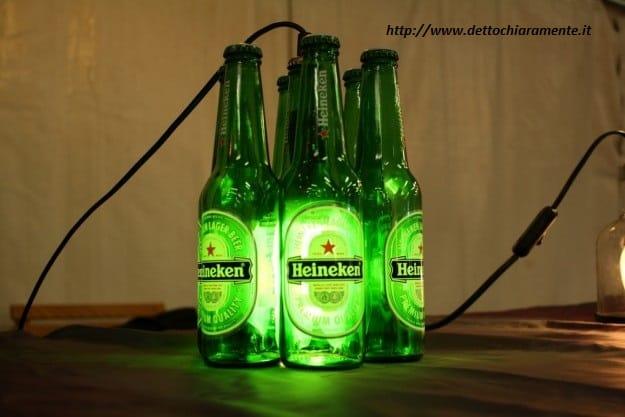 Riciclo creativo bottiglie di birra non sprecare for Aggiungendo un mudroom al lato della casa