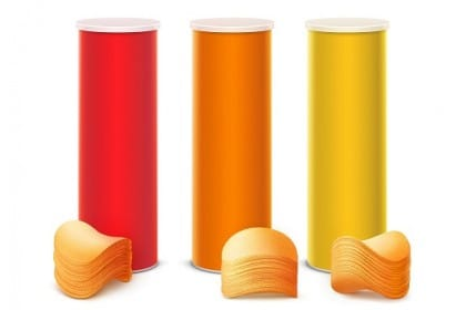 riciclo creativo tubi delle patatine