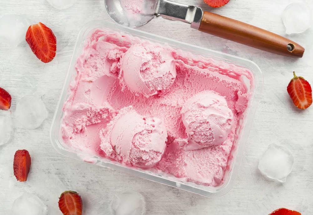 ricetta gelato alla fragola vegan