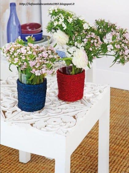 Riciclo creativo contenitori di plastica non sprecare - Come decorare un barattolo ...