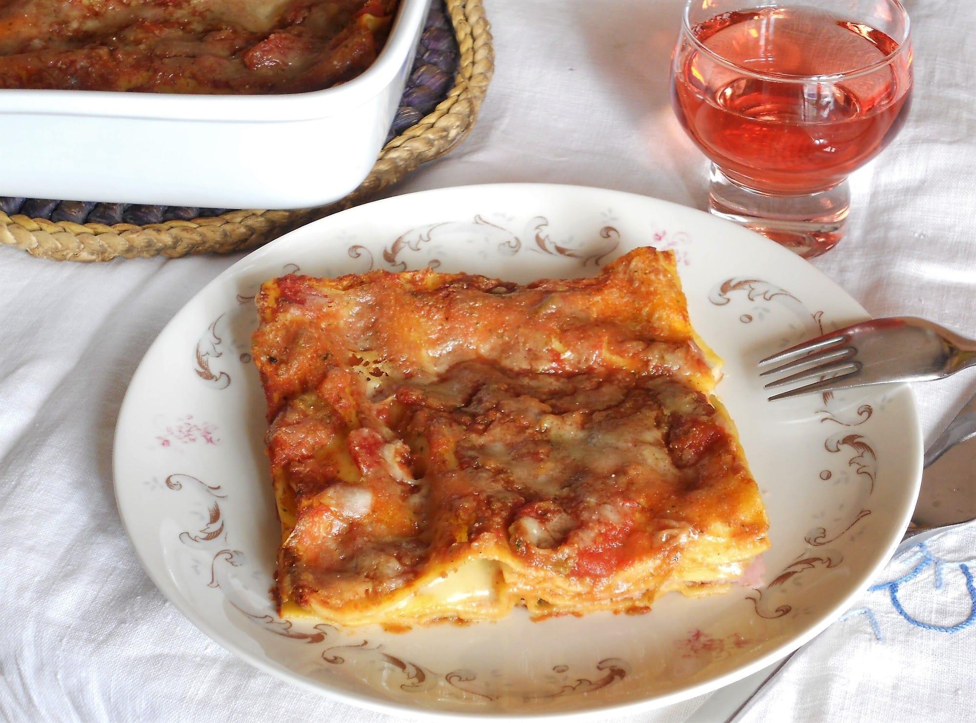 ricetta lasagne con prosciutto