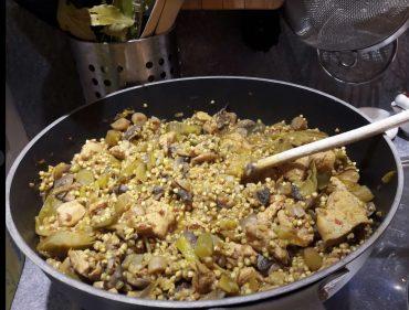 ricetta paella di carne e verdure