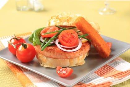 ricetta hamburger di salmone