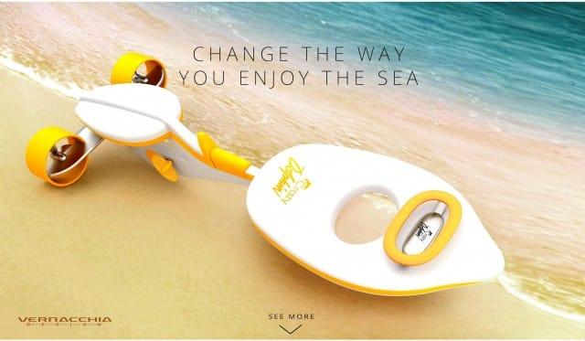 """Swimmy, la speciale ed ecocompatibile """"bici da mare"""" che permette di nuotare, pedalando (foto)"""