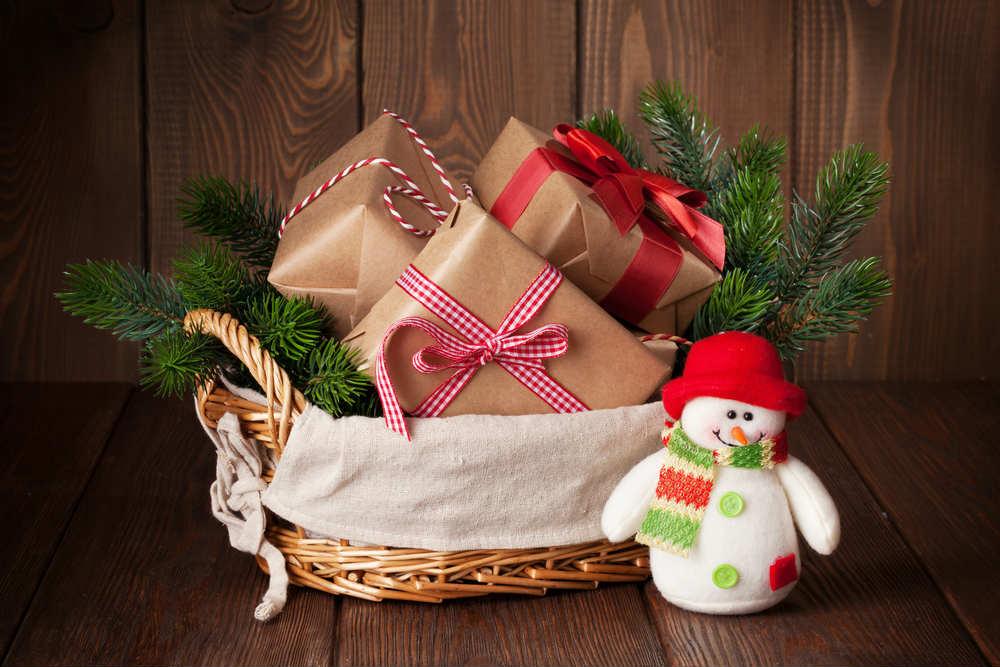 Cesto di Natale fai da te
