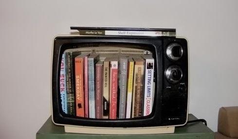 Vecchio televisore: con il riciclo creativo si trasforma in una libreria o una cuccia per il cane