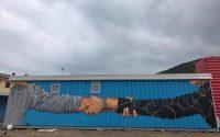 Splendidi murales sui container per rendere meno amara la vita del post terremoto