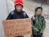 Bambini maleducati? La mamma li punisce così: a scuola a piedi, per 7 chilometri di strada (foto)