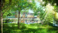 La Casa degli alberi: un ospedale per bambini sospeso tra i rami, in un bosco di robinie