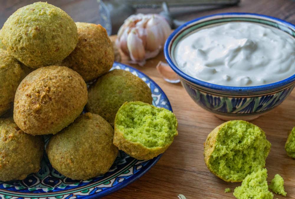 ricetta falafel ai piselli con salsa allo yogurt