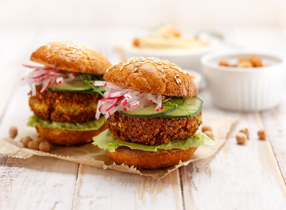 ricetta burger di falafel