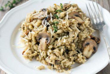 ricetta risotto con funghi e castagne