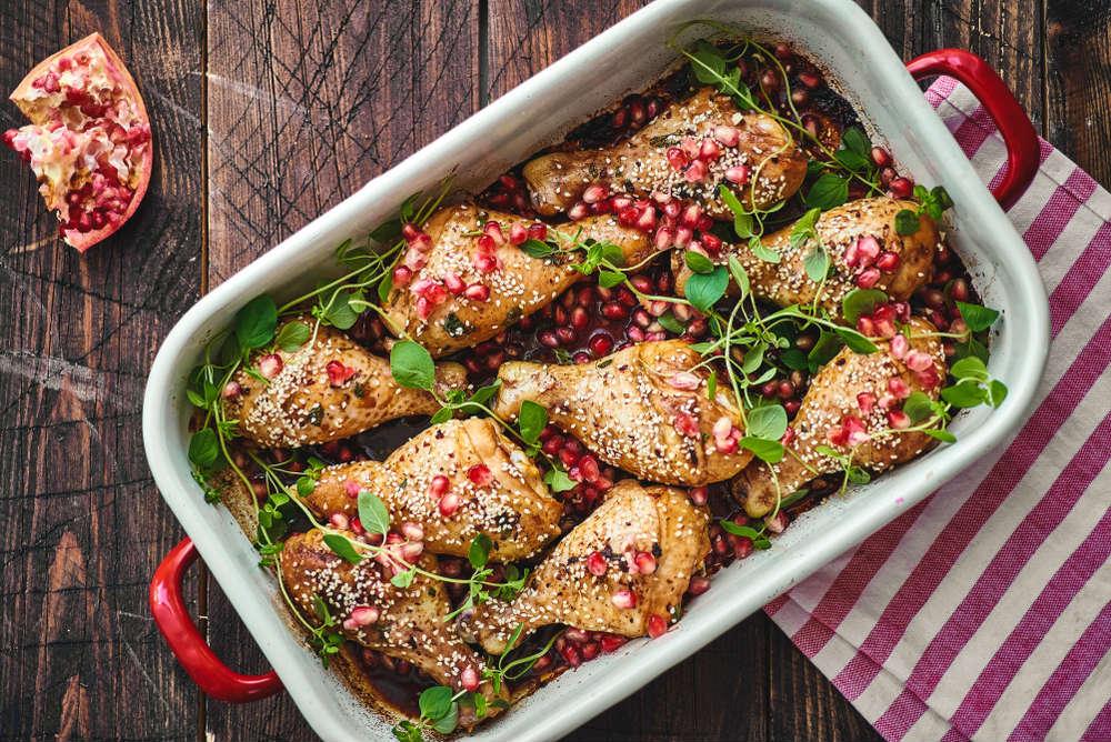 ricetta pollo al melograno