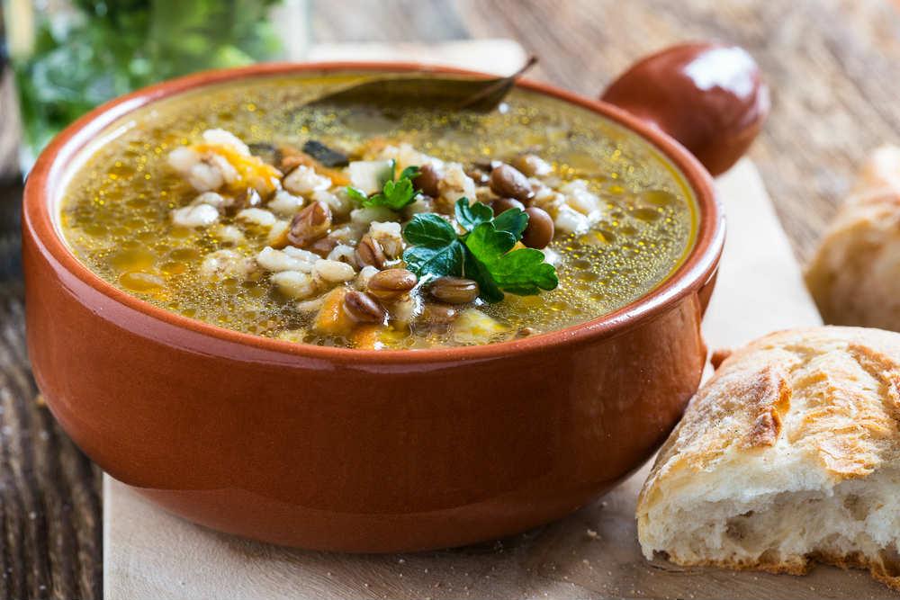 zuppa di fagioli e scarola