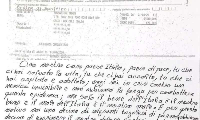 Coronavirus: migranti togolesi donano i propri risparmi all'ospedale di Parma