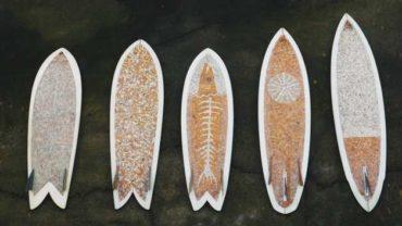 trasformare mozziconi in una tavola da surf