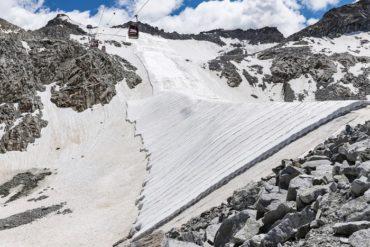 teli geotessili per salvare i ghiacciai
