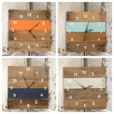 Orologio con legno riciclato