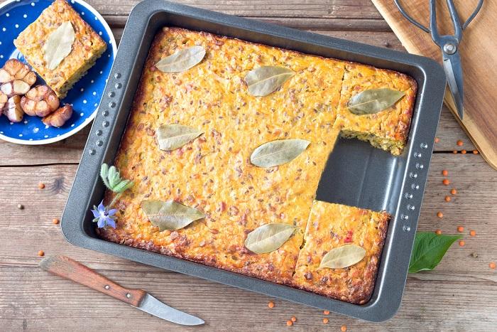 ricetta torta di lenticchie