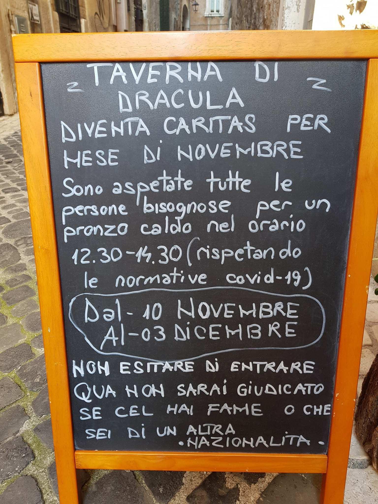 pasti gratis taverna di dracula tivoli