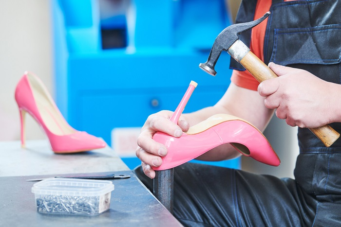 riparare tacco scarpe fai da te