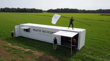 container per il riciclaggio della plastica