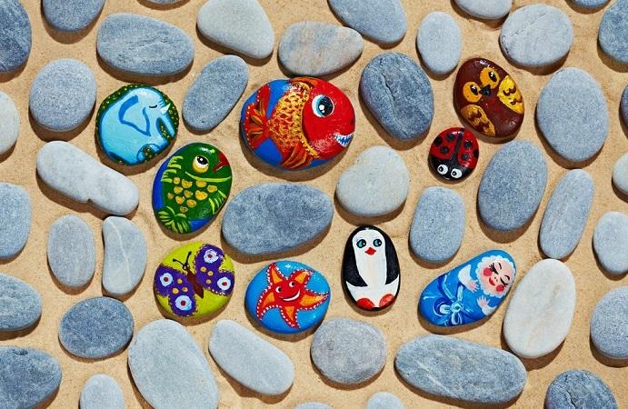 riciclo creativo pietre del mare