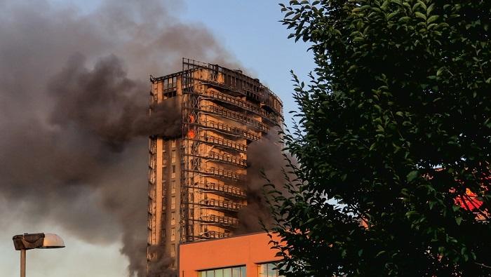 incendio grattacielo a milano